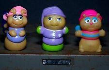 Vtg 80s Hasbro Glo Bug Glow Worm Friend Playskool Figure Lot X3 Rare Great Fun!