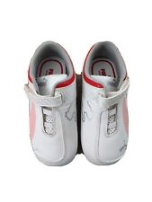 Puma Toddler Shoes, White, Red, Pink Ferrari Colors, Size 8