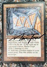 Vintage Magic | Signed NM/MINT MTG Book PROMO Mana Crypt, NO RESERVE!!!
