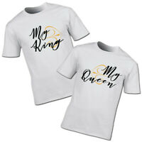 My King and My Queen T-shirt couples partners boyfriend girlfriend his and hers