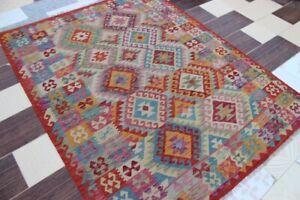 3680.-Best-Quality-Hand-Woven-Lamb-Wool-Kilim-Size-..203x- 152-CM