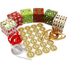 JUNIWORDS Geschenktütenset 24 Tüten /& Sticker Design 7 Adventskalender Christmas