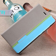 Gray Luxury Flip Cover Stand Wallet PU Leather Case For Various Phones