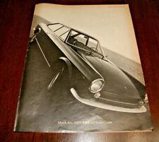 Vintage Print AD 1970 Fiat 124 Sport Coupe 10 x 13 Original