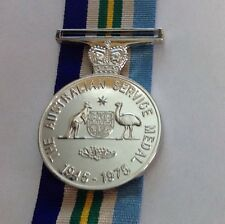 Australia Service  Medal 1945-75 Replica.  With Png F/S Medal With 300mm Ribbon