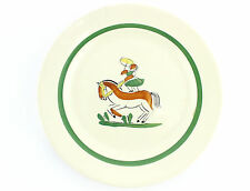 A vintage Arthur Percy Toto plate for Gefle Swedish 1940s Horse, circus interest