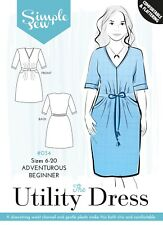Simple Sew SEWING PATTERN #034 The Utility Dress,For Adventurous Beginner 6-20