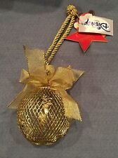 Disney Shopping GOLD MESH BALL with TINKER BELL Elegant Ornament  MINT!!