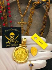 PERU  8 ESCUDOS 1715 FLEET PENDANT JEWELRY PIRATE GOLD COINS SHIPWRECK TREASURE