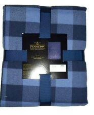 Pendleton Home Collection Luxe Rob Roy Blue Plaid Throw Blanket 50 X 70