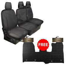 Ford Transit Custom Tailored Van Seat Covers 2013 on & FREE Rubber Van Mat Black