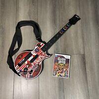 Nintendo Wii Guitar Hero Controller Gibson Les Paul Aerosmith With Game & Strap