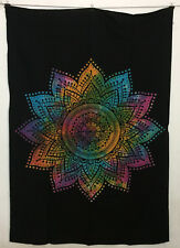 Multi Colour Flower Mandala Design Picture Twin Tapestry Wall Hanging Cotton Art