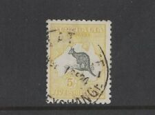 1918 Australia Roo 5/- yellow third wmk SG 42 fine used