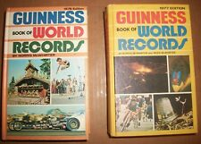 Guinness Book World Records Sterling hardcover lot of 2 1977 1978 McWhirter VG