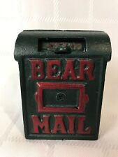 Boyds Bears Cast Iron Mail Box from the Investment Collection ~ Bear Mail