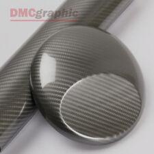Calidad Ultra Brillo Gris 5D De Fibra De Carbono Vehículo De Vinilo De 3 capas envoltura de burbujas gratis