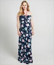 Mothercare Blooming Marvellous Maternity Printed Rose Maxi Halterneck Dress 18