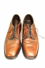 Vintage 1970s Mens Shoes Square Toe  Oxfords Lace Up Brown 12D  EUC