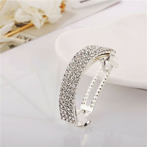 Women Girls Barrettes Hair Pins Crystal Spring Clips Ponytail Hair Accessories