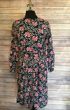 Autograph American Clothing Vintage Floral 2 Piece Skirt Suit Pleated - Small