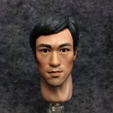 1/6 Scale Custom Head Sculpt Rolling Eyes Bruce Lee Enter The Dragon