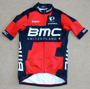 """RIDER-ISSUED TEAM BMC THERMAL SHORT SLEEVE JERSEY. PEARL IZUMI SMALL 34"""" CHEST"""