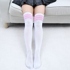 Women's Cotton Sexy Thigh High Over The Knee Socks Long Stockings DIY For Girls