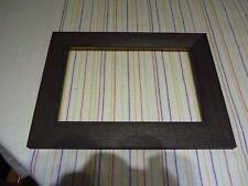 "9"" x 6""  photo frame dark brown grainy"