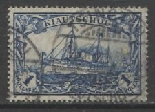 1906 German colonies KIAUTSCHOU  1 Dollar Yacht used, -TSINGTAU-, $ 120.00
