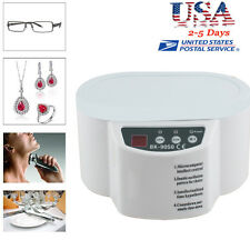 600ml 110V Mini Ultrasonic Cleaner Bath For Cleanning Jewelry Watch Glasses Lens