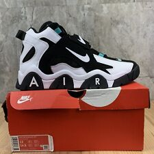 Nike Air Barrage Mid Size 13 Mens Black White Cabana Basketball Shoes