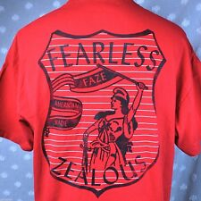 FAZE Fearless And Zealous Everyday T-Shirt XL Mens Red Shield USA SF Made Urban