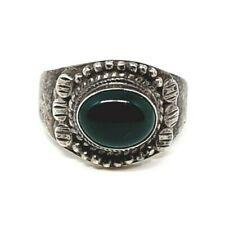 925er Silber Ring Edelstein Jade Vintage Sterlingsilber Ringgröße 54