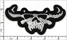 30 Pcs Embroidered Iron on patches Danzig Skull Black/White AP021dZ2