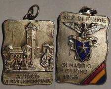 medaglia 7 raduno club alpino Fiume ad Asiago 1958