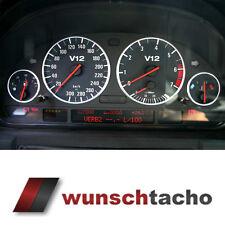 """Tachoscheibe für BMW E38-E39 E53/X5 """"Black V12""""  Benziner"""