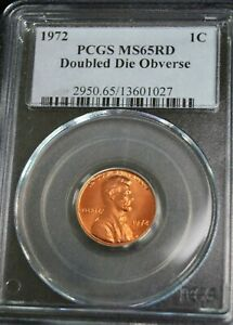 1972 LINCOLN CENT DDO PCGS MS65RD GREAT SEPARATION