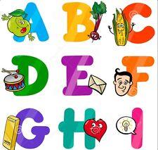 PRE SCHOOL CHILDREN LEARN LETTERS WORDS TALKING dvd ages 3-6 SING ALONG FUN 076