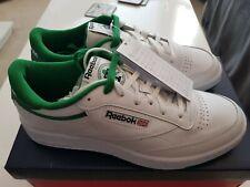Reebok Club C85 White Green Mens Size 7.5 Classics BNIB