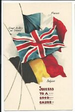 Patriotic PPC Success to A Good Cause, Flags of the Allies no 10, Unposted