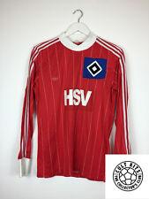 Retro Hamburg #10 (Campeones) 80s L/S Camiseta de fútbol (M) fútbol Jersey Adidas