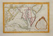 CHESAPEAKE, VIRGINIA AND MARYLAND BY BELLIN, CIRCA 1770