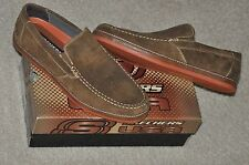 Skechers Florion Devin Brown Suede Shoes Sz 11 Brand New with Original Box