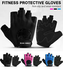 Unisex Half Finger Cycling Bike Bicycle Gloves Bus Driving Fingerless Fitness