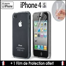 COQUE ETUI HOUSSE SILICONE GEL TPU TRANSPARENT SOUPLE  IPHONE 4/4S LOT X2 X3 X5