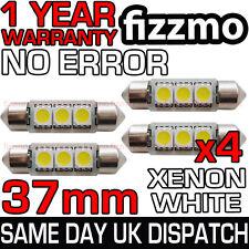 4x 37mm Bombilla Patente Interior 6000k Blanco Brillante 3 SMD LED C5W FESTOON