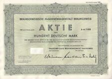 Braunschweigische Maschinenbauanstalt AG 100dm 1953
