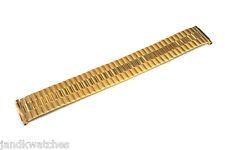 Speidel Twist-O-Flex Expansion Gold Tone Steel Metal Watchband 16-21 Millimeters