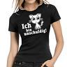 Ich bin unschuldig Kätzchen Katze Sprüche Fun Comedy Spaß Damen Girlie T-Shirt
